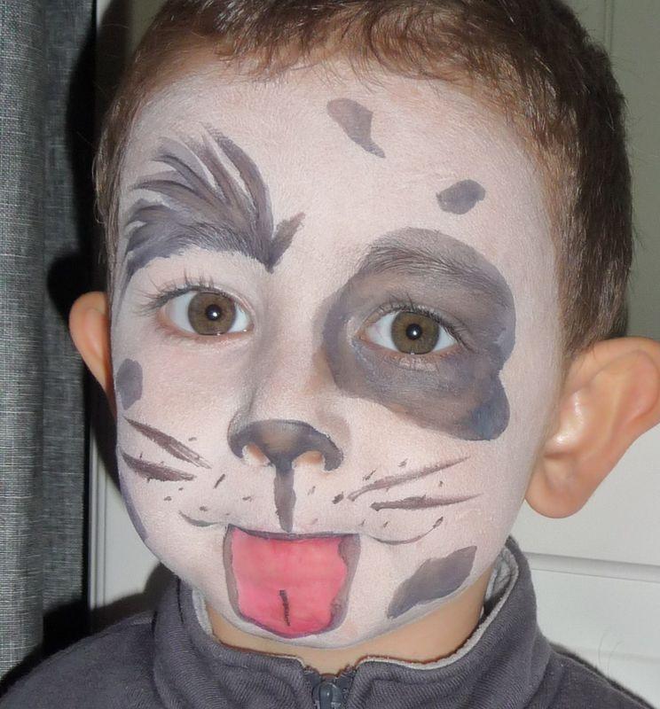 Maquillage enfant - Maquillage halloween garcon simple ...